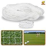 Sports Netting Replacement Nylon Barrier Net, Multi-Sport Use, Golf Net, LaCrosse, Street Hockey Netting (40' x 12')