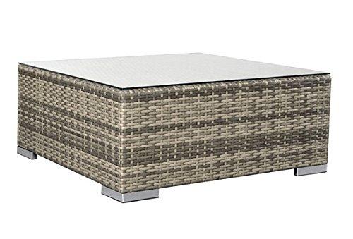 Rattan Loungeelement Espace Exclusive Tisch B 75x75cm - Farbe: braun meliert