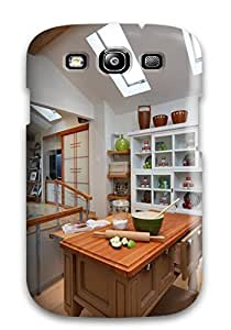 Anti-scratch And Shatterproof Small Kitchen With Custom Island Phone Case For Galaxy S3/ High Quality Tpu Case