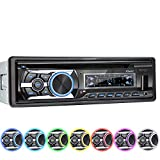 XOMAX XM-CDB623 Car Stereo with CD Player I Bluetooth I RDS Radio Tuner I USB, Micro SD I 2x AUX I 7 colours adjustable I 1 DIN