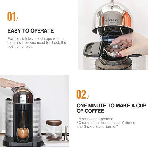 IBISHITAOXUNBAIHUOD Reutilizable del café de la cápsula del Acero ...