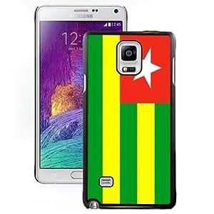 Beautiful Unique Designed Cover Case For Samsung Galaxy Note 4 N910A N910T N910P N910V N910R4 With Togo Flag Black Phone Case