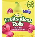 Mott's Fruitsations Rolls Gluten Free Mixed Berry Fruit Snacks, 128 g
