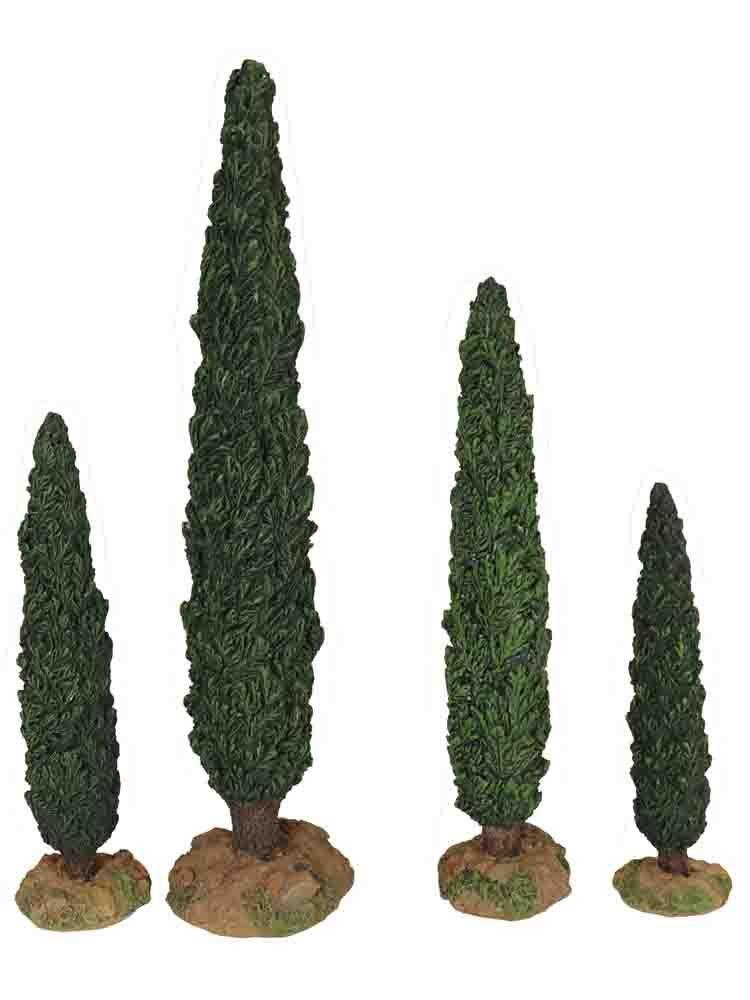 4 Piece Cypress Tree Set [54601]