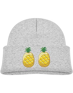 Warm Pride Pineapple Printed Toddlers Baby Winter Hat Beanie