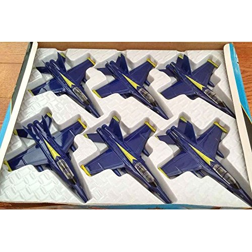 Set of 6 F/A 18 Hornet US Navy Blue Angels fighter plane - diecast model 7
