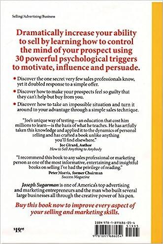 Triggers: Joseph Sugarman: 9781891686054: Amazon.com: Books