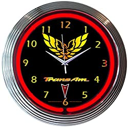 Neonetics Trans Am Neon Wall Clock, 15-Inch
