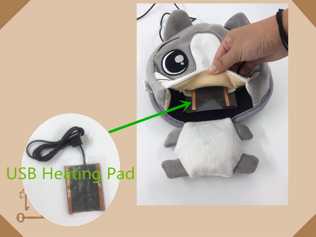 USB Power Heating Mouse Pad-Keep Warm in Winter Mouse Pad-113 Degrees Fahrenheit Constant Temperature Warmer Mouse Pad Protect Your Hands From Frostbite Comfortable Heated Mouse Mat by Update Everyday (Image #3)