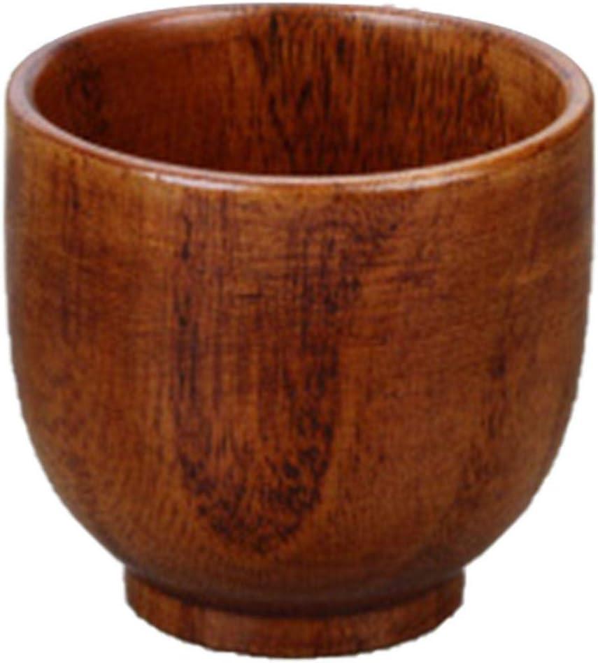 Qifumaer Wooden Tea Cups Top Grade Natural Solid Wood Tea Cup,Wooden Teacups Coffee Mug Wine Mug for drinking Tea Coffee Wine Beer Hot Drinks,610.5CM