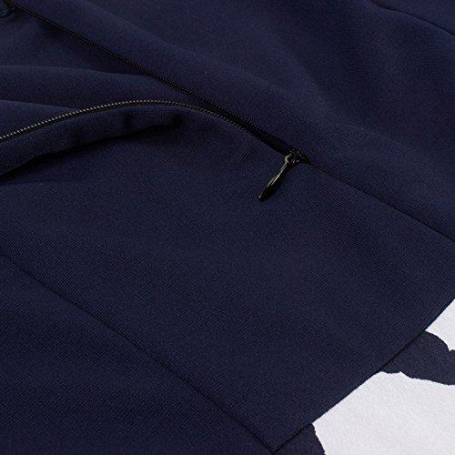 iShine Rockabilly Kleid Damen Knielang V-Ausschnitt Schwingen Faltenrock Kleider mit Langen Ärmel damen Herbstkleid Partykleid Cocktailkleid