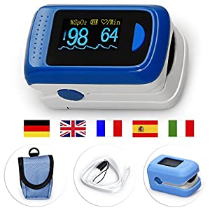 MedX5 pantalla TFT en color de 2,8', oxímetro de pulso para seguimiento a largo plazo con sensor, pulsómetro de pulso de dedo, Pulsioximetro, producto sanitario certificado 18