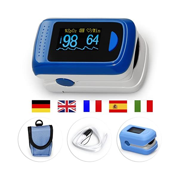Medx5OLED pantalla a colori, pulsossimetro, pulsossimetro Da dito, dispositivo per la misurazione del polso, ossimetro, misuratore Da polso, prodotto Medico 50 unidades 2