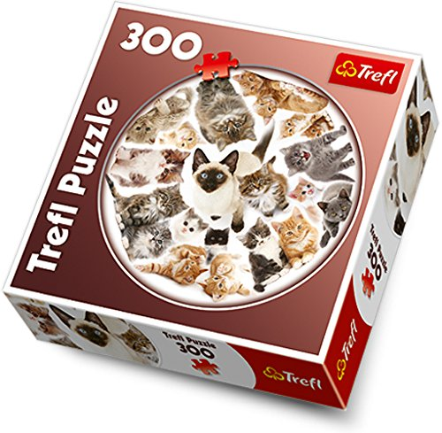 Jigsaw Puzzle - 300 Pieces - Round : Cats