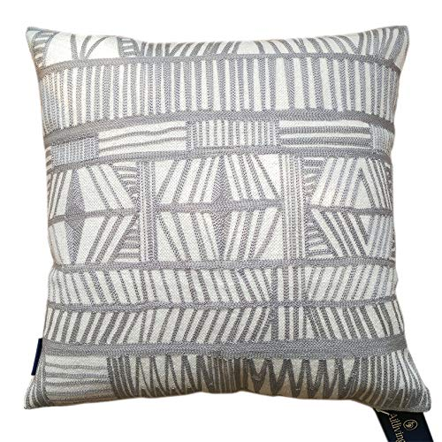 (Aitliving Decorative Pillowcase Cotton Canvas 1 pc Geometric Bolero Throw Pillow Cover Grey 18x18)