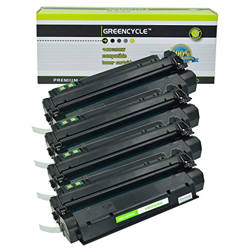 GREENCYCLE Compatible Toner Cartridge Replacement for HP C7115A 15A Laserjet 1000 1005 1150 1200 1300 3300 3310 3320 3330 3380 Printer (Black,4 Pack)