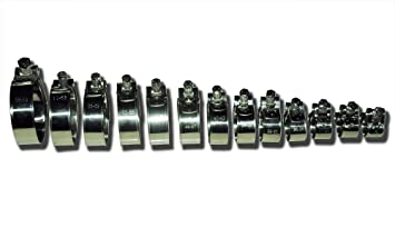 Heavy Duty Stainless Steel T-Bolt Hose Clamps - Free Choice of Sizes (20mm - 22mm (3/4