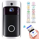 WiFi Smart Video Doorbell,Nestling Wireless Door Bell Smart Home 720P HD WiFi Camera Security with Two-Way Talk & Video,PIR Motion Detection, Night Vision for iOS Android Google