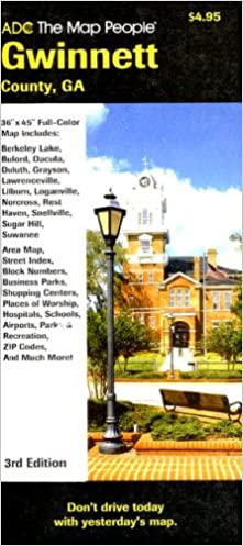 Gwinnett County Ga Street Map 9780875308265 Amazon Com Books