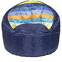 Heritage Kids Blue Stripped Toddler Bean Bag Chair, Blue