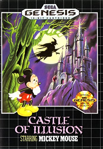 Castle of Illusion Starring Mickey Mouse (Sega Genesis / Megadrive) - Reproduction Game Cartridge with Clamshell Case and Replica Game Manual