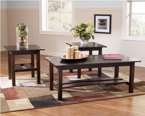 Contemporary 3 Pc Coffee End Table Set Living Room Tables (Coffee Table Accent Pieces)