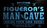 qd1471-b FIGUEROA's Man Cave Soccer Football Neon Beer Sign