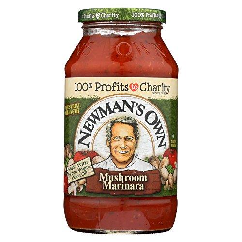 Newman's Own Marinara Pasta Sauce - Mushrooms - Case of 12 - 24 Fl oz. ()