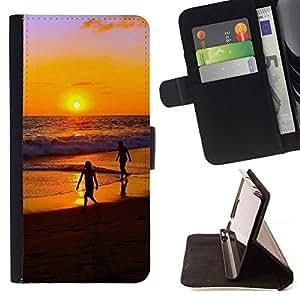Momo Phone Case / Flip Funda de Cuero Case Cover - Sunset Beautiful Nature 32 - Samsung Galaxy S6