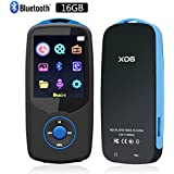 MP3 Player 16GB,CFZC MP3 Player with Bluetooth Portable Lossless MP4 Music Player with FM Radio Voice Record-Support 64GB Micro SD card Slot