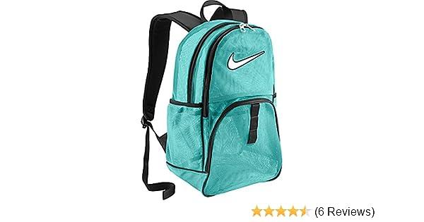 Amazon.com  Nike Brasilia 6 Large Mesh Backpack Aqua  Sports   Outdoors ff9ce75ec