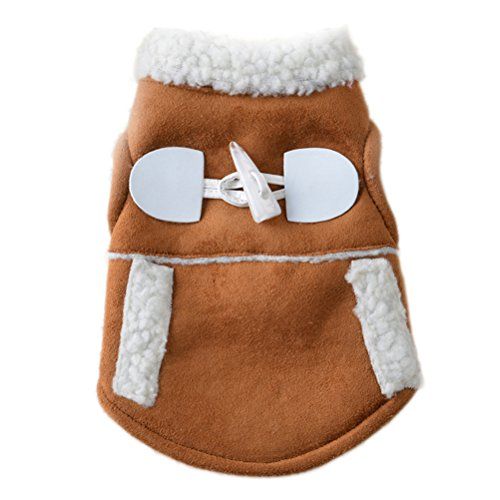 Uniquorn 2016 Autumn And Winter New Handsome Stylish Pet Dog Clothes Warm And Comfortable Cotton Velvet Two Feet Dog (70s Cop Costume)