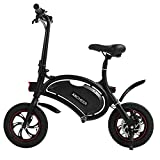 ANCHEER Folding Electric Bicycle E-Bike Scooter 350W Powerful Motor Waterproof Ebike with 12 Mile Range, APP Speed Setting (Black-4.4AH)