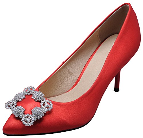 Salabobo Femme Sandales Rouge chaussures Compensées Red 5hnvnxi tSEw64xqS