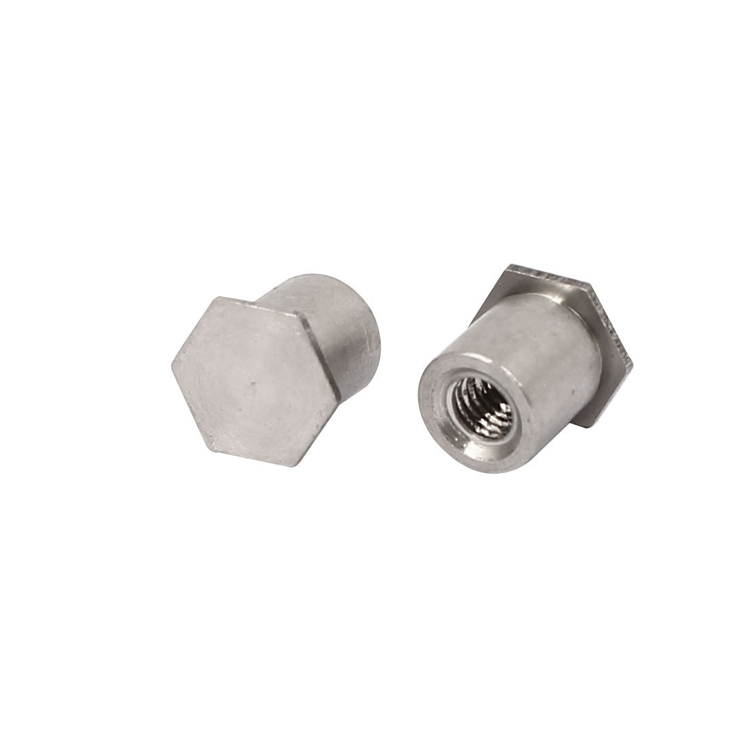 uxcell M3x6mm Blind Hole Hex Head 304 Stainless Steel Self Clinching Standoff 20pcs
