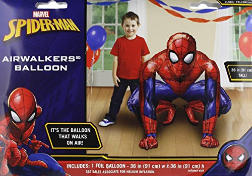 Anagram 23483 Spider-Man Airwalkers Foil Balloon, 36