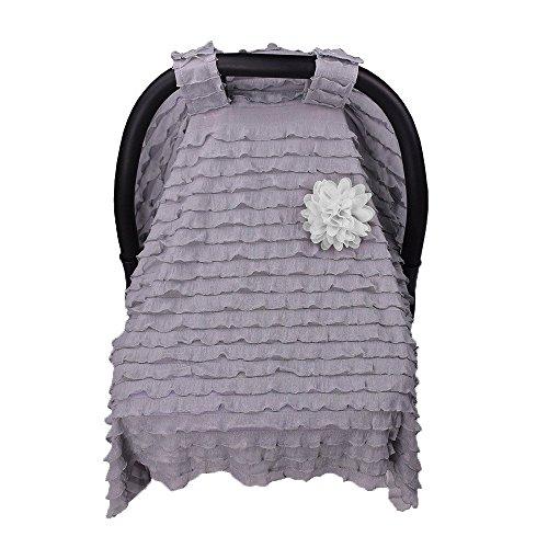 Dinlong Maternity Baby Stroller Sunshade Newborn Car Seat Carriage Blanket Sun Shade Rayshade Cover Basket Safety Cradle Cap Bassinet Canopy Visor (Dark Gray, 37.4x29.5 inches / 95x75 cm)