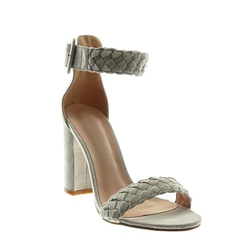 nero 41 EU Angkorly Scarpe Moda Sandali con Cinturino Alla Caviglia Donna 109