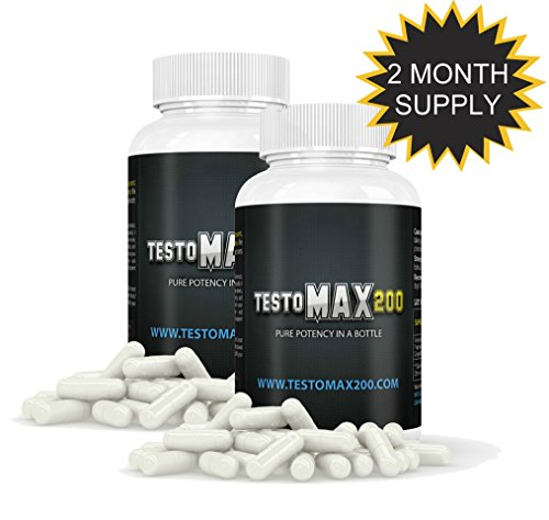 Testosterone Booster Pills - Testosterone Booster for Muscle Growth - Testosterone Booster Supplements Two Pack by Testomax 200