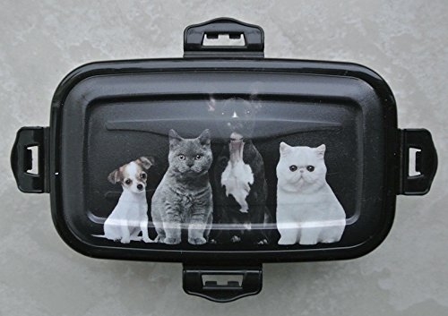 na-und 40044 Frischhaltedose 250ml Hunde Katzenmotiv / schwarz