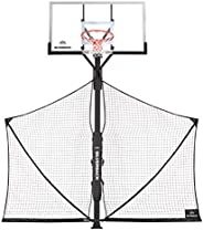 Silverback Basketball Yard Guard Defensive Net System Rebounder with Foldable Net and Arms into Pole , White/B