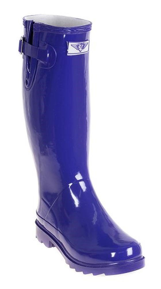Forever Young - Womens Wellie Rain Boot, Purple 37277-9B(M)US