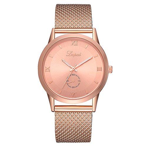 Frunalte Womens Watches Women Quartz Watches Womens Watches Fashion Womens Watches With Leather Strap Z-01 (Rose Gold)