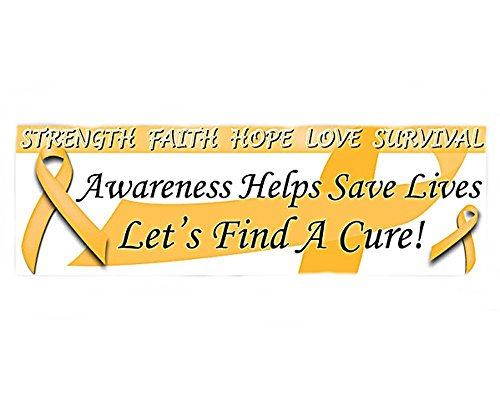 Childhood Cancer Awareness Gold Ribbon Banner by Autism Awareness Shop