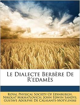 Book Le Dialecte Berbère De R'edamès
