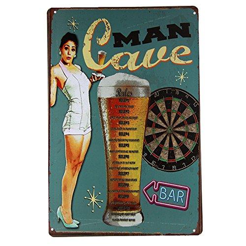 Metal Poarwe Vintage Wall Pub Tin Sign (Beer Tin Tray)