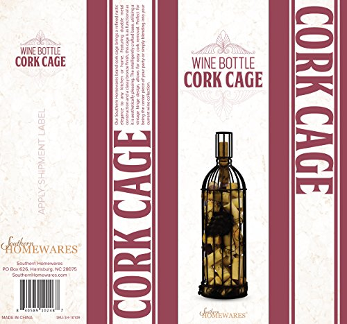 Southern Homewares Cork Corral Wine Bottle Grapevine Design by Southern Homewares (Image #1)