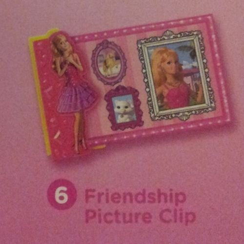 Mcdonalds Happy Meal 2014 Barbie Life in the Dream House # 6 Friendship Picture Clip Toy