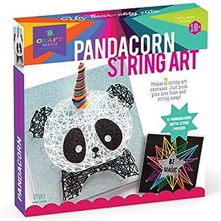 Craft-tastic – String Art Kit – Craft Kit Makes 2 Large String Art Canvases – Pandacorn Edition