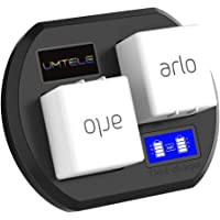 UMTELE Charging Station Compatible with Arlo Pro 2 Rechargeable Batteries, Dual Fast Charger with LCD Display Compatible for Arlo Security Light & Arlo Pro & Arlo Pro 2 & Arlo Go Batteries